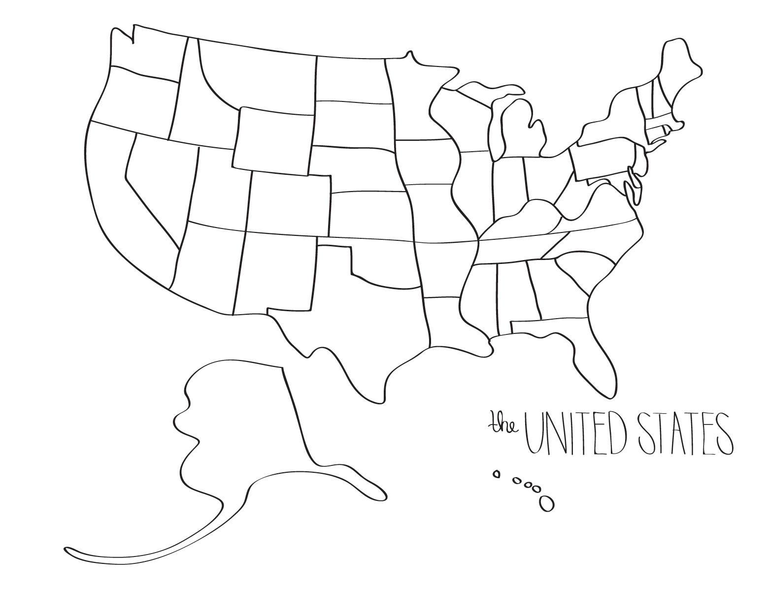 United States Drawing At Getdrawings