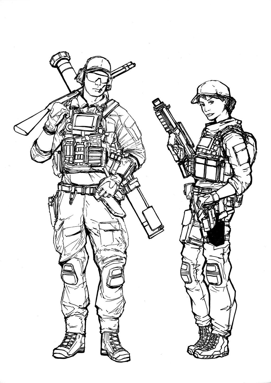 Usmc Drawing At Getdrawings