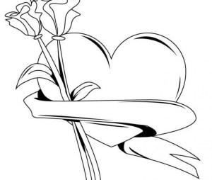 valentines valentine drawing happy pencil sketch getdrawings
