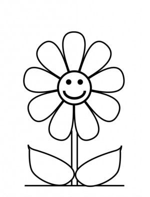 very easy drawing simple flower flowers getdrawings