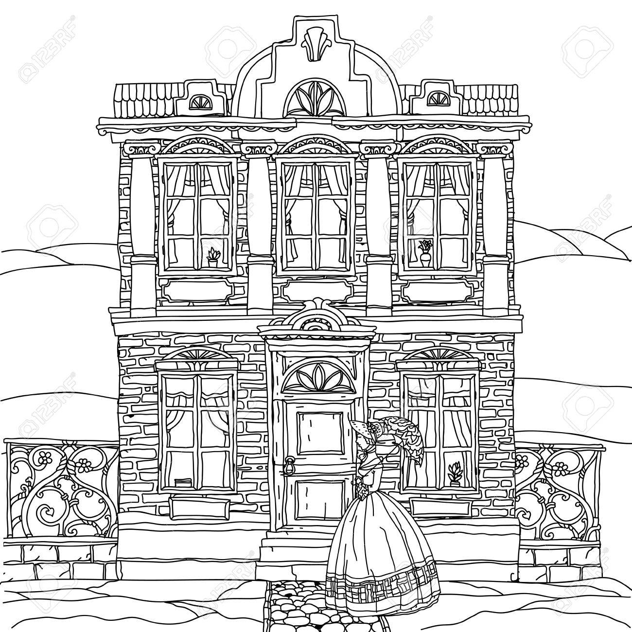 Victorian House Drawing At Getdrawings
