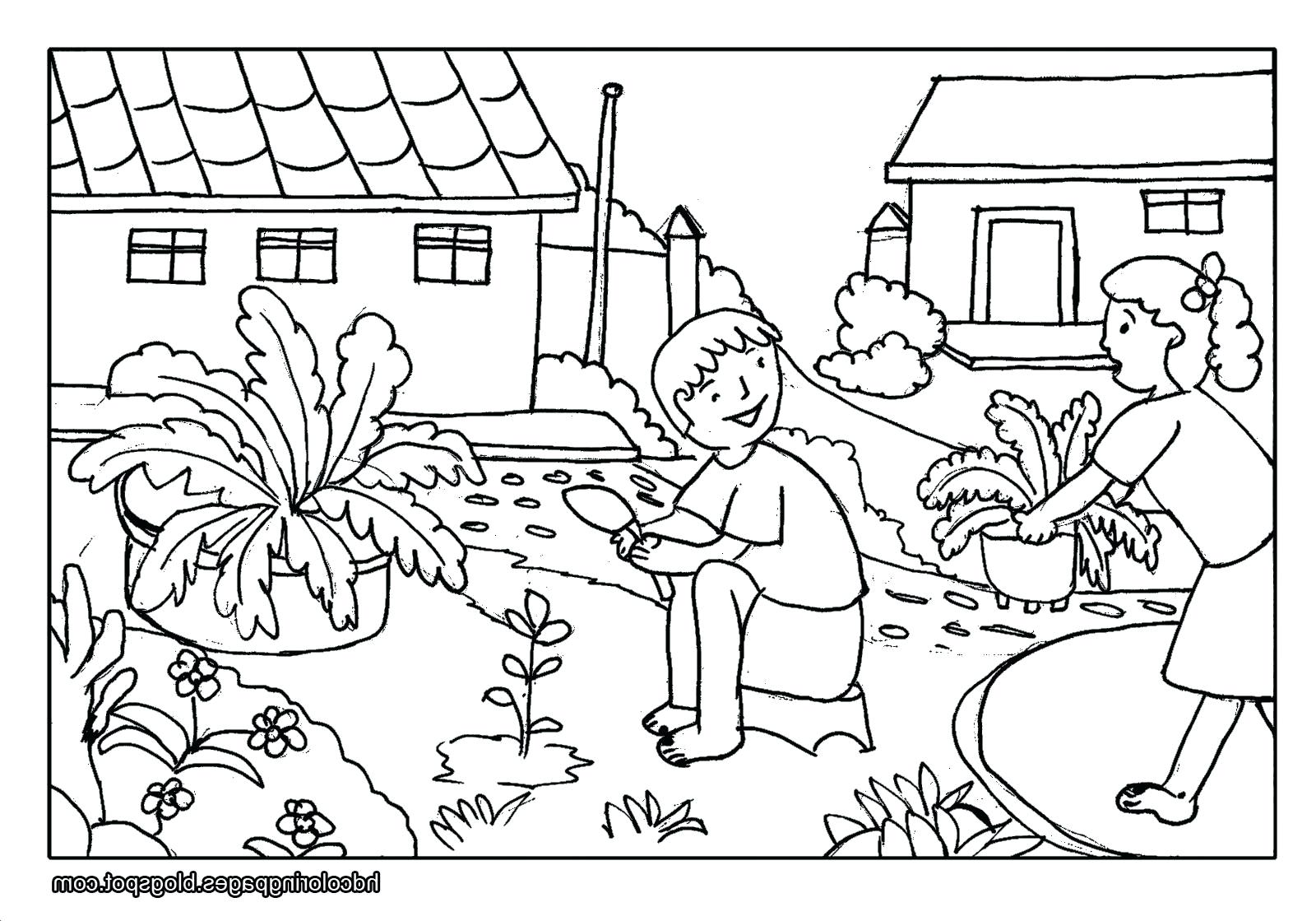 Village Scenery Drawing At Getdrawings