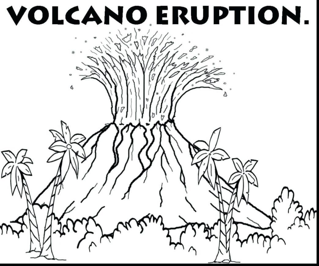 Volcano Eruption Drawing At Getdrawings
