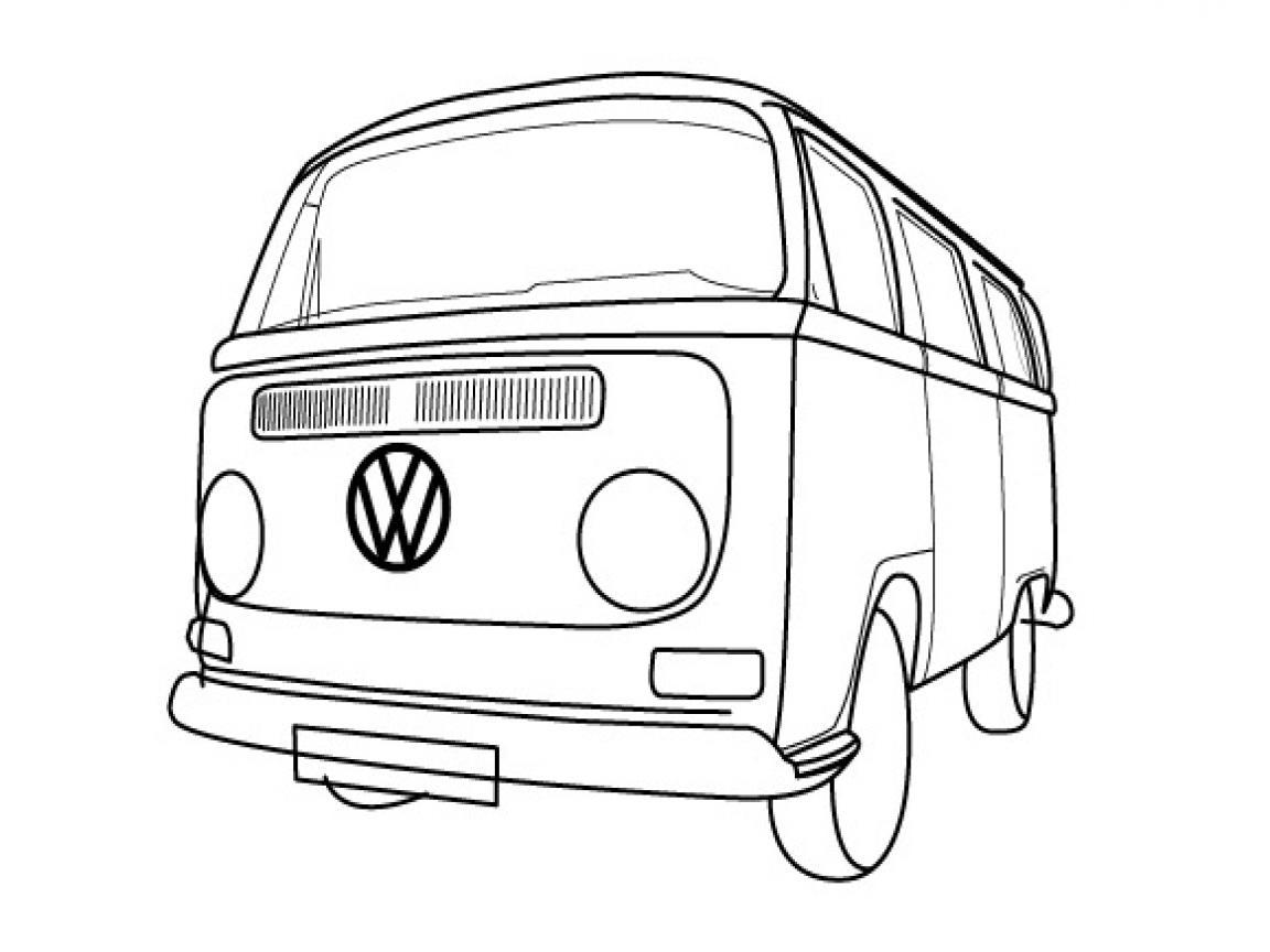 Volkswagen Van Drawing At Getdrawings