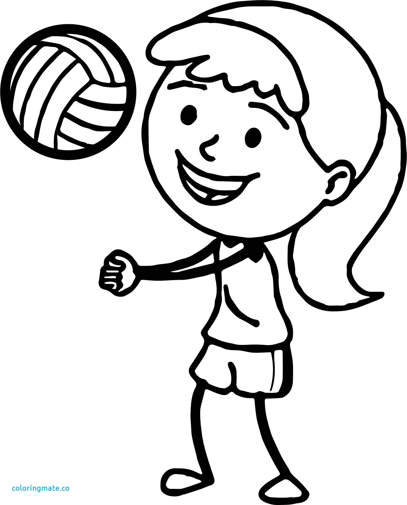 Volleyball Players Drawing At Getdrawings
