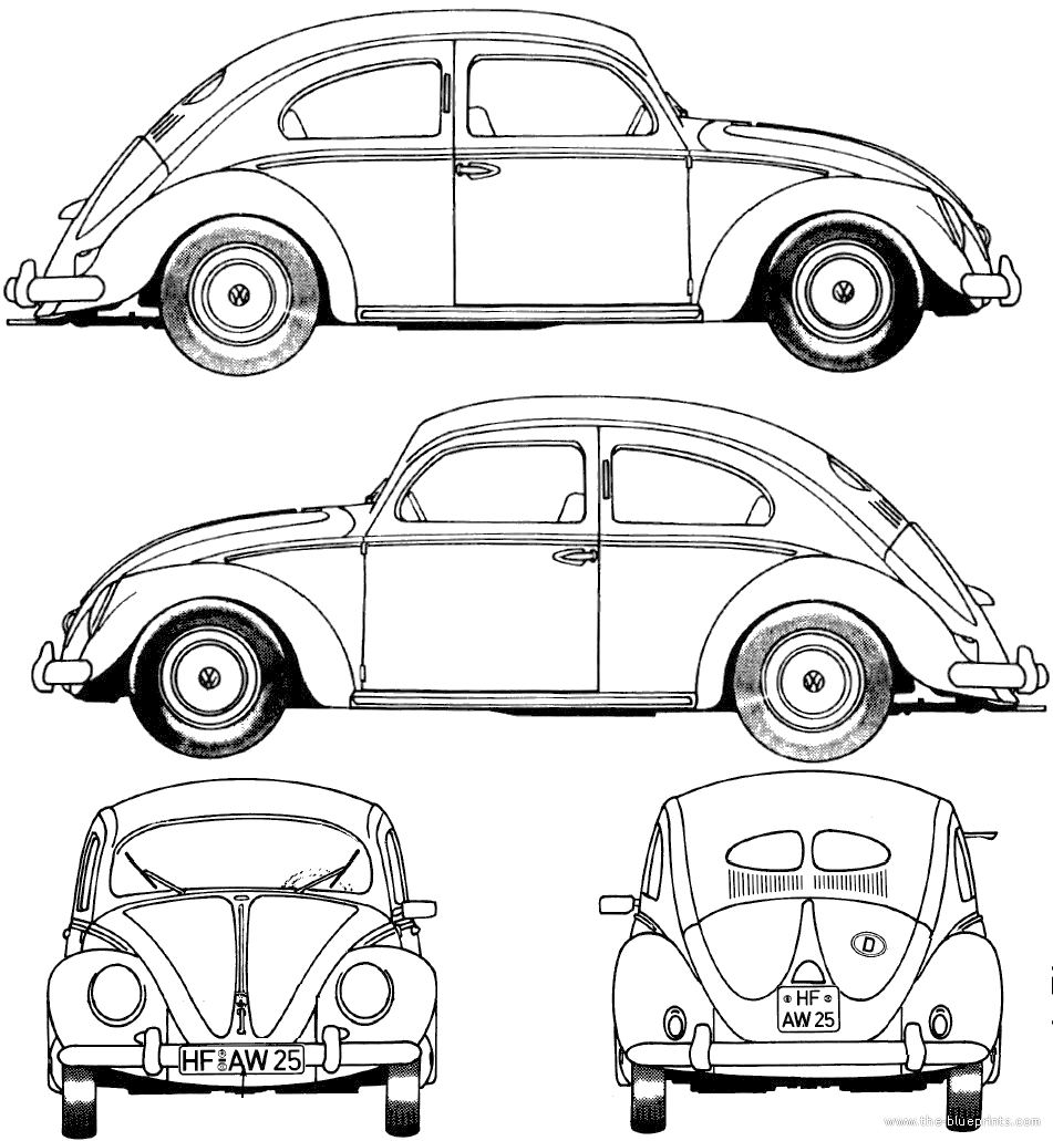 Vw beetle drawing at getdrawings free for personal use vw