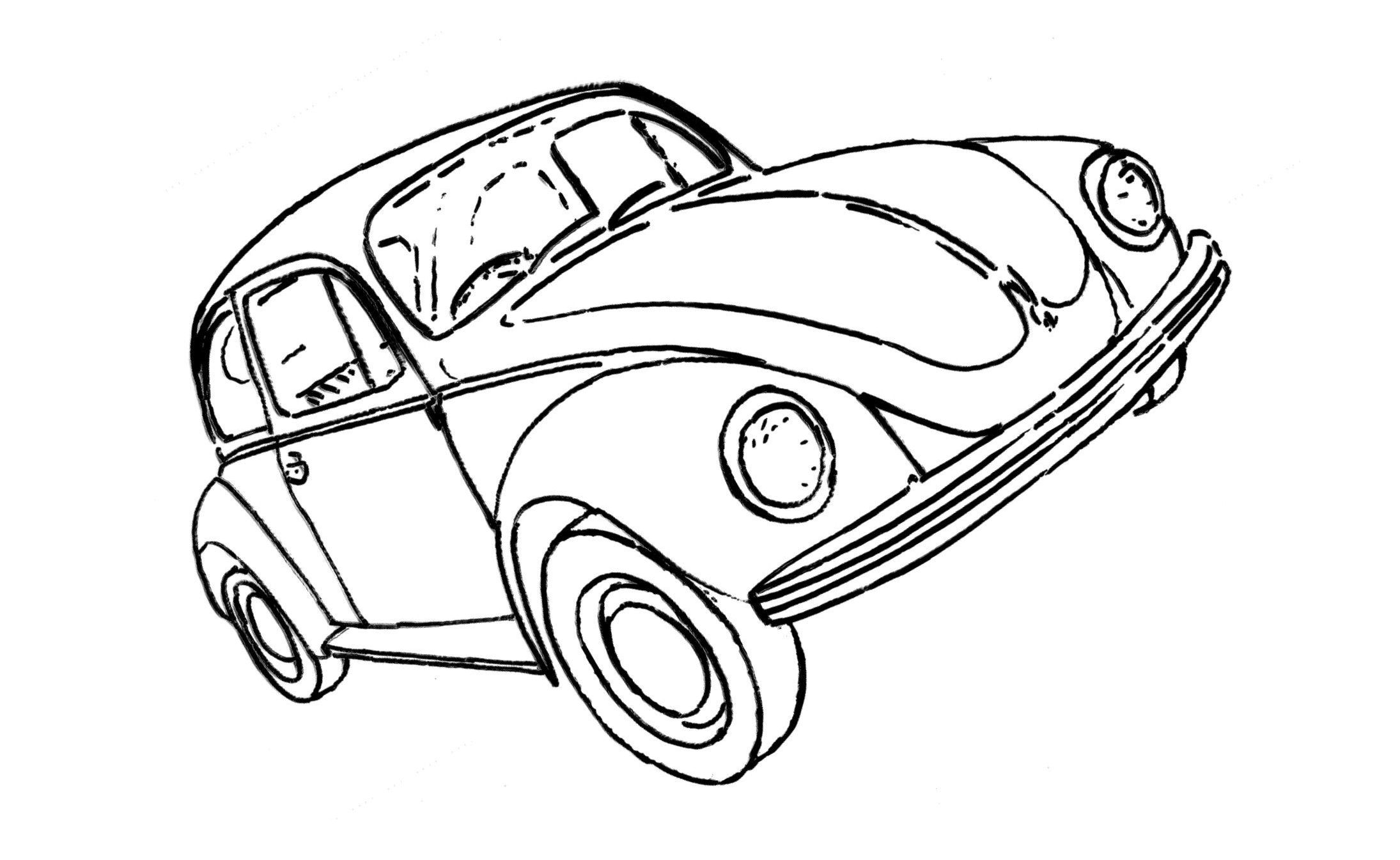 Vw Beetle Drawing At Getdrawings