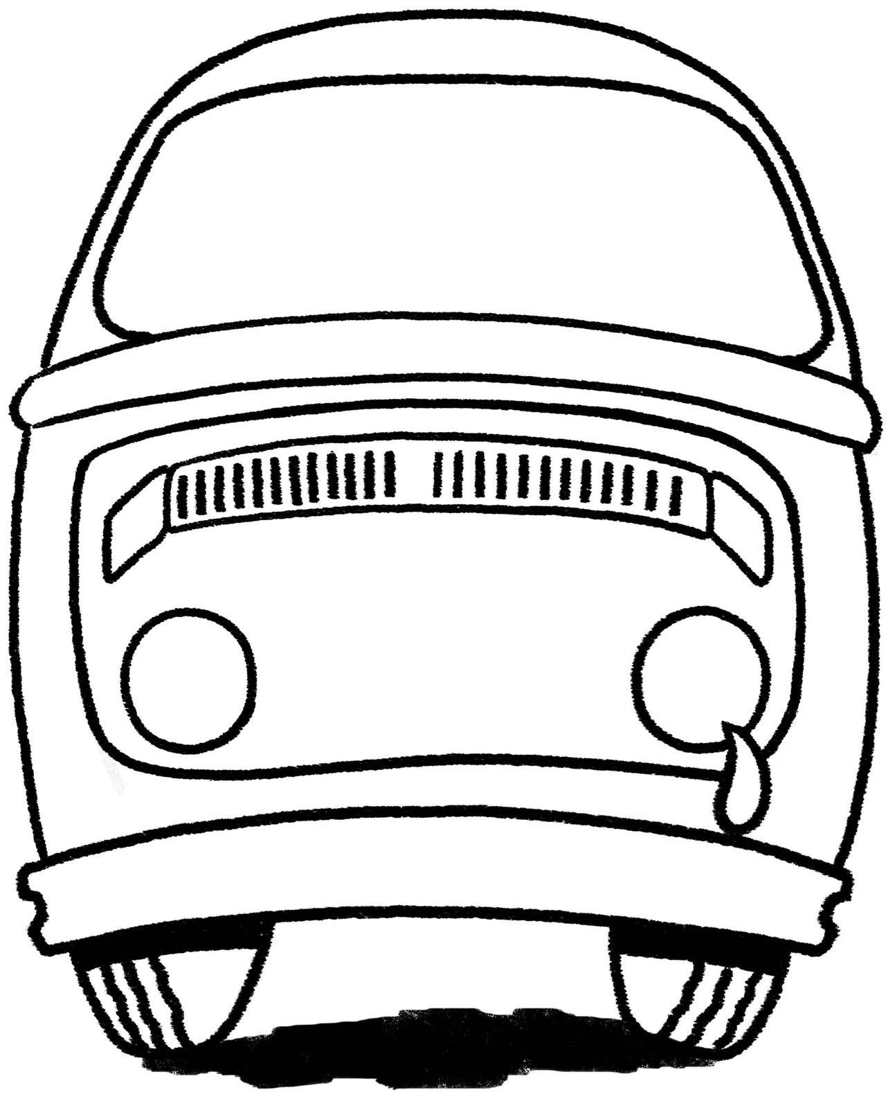 Vw Bus Drawing At Getdrawings