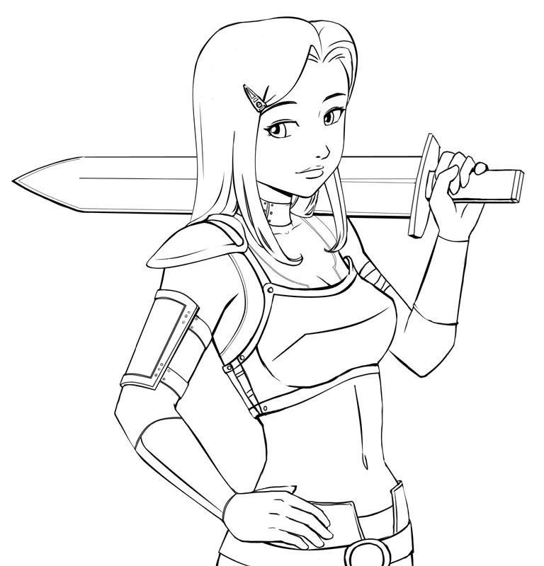 warrior woman drawing at getdrawings  free download