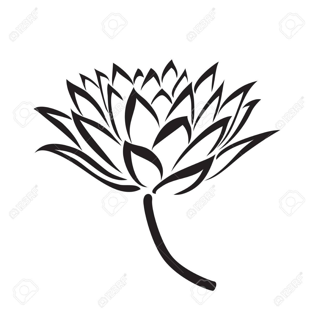 hight resolution of 1300x1300 floral water lily vector line style royalty free cliparts