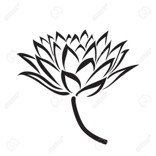 small resolution of 1300x1300 floral water lily vector line style royalty free cliparts
