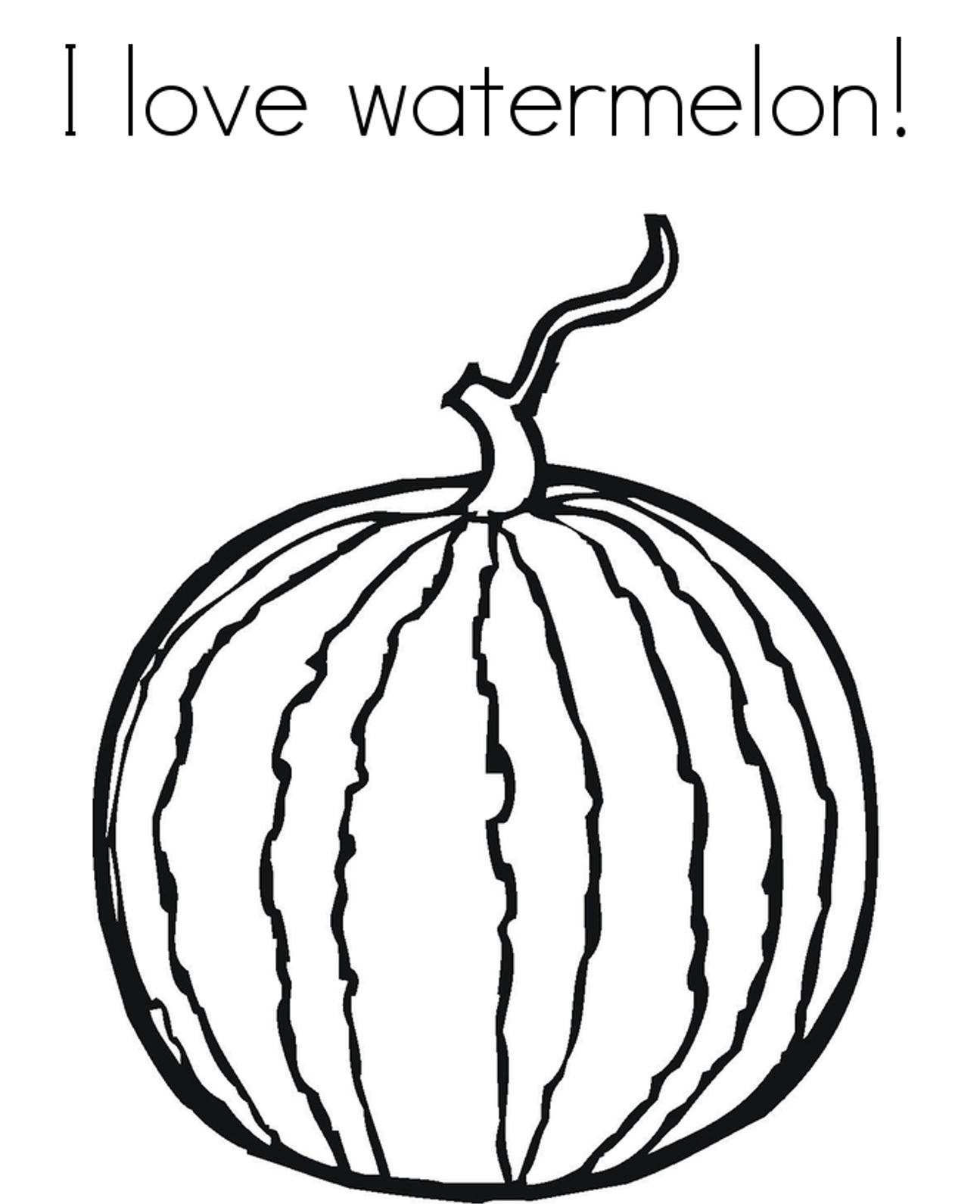 Water Melon Drawing At Getdrawings