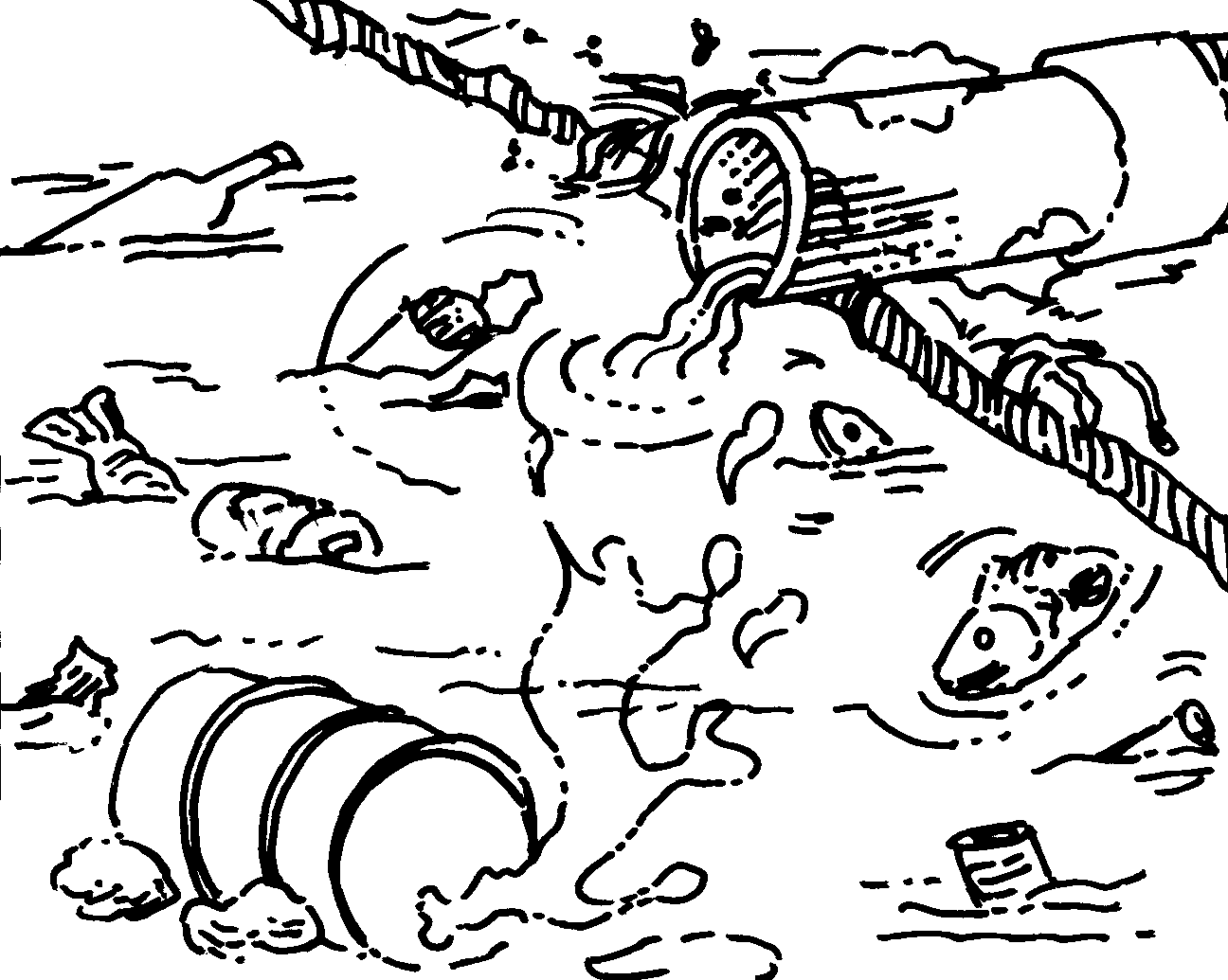 Water Pollution Drawing At Getdrawings