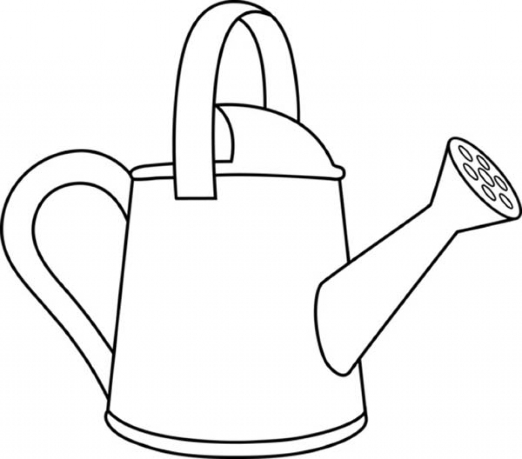 Watering Can Drawing At Getdrawings
