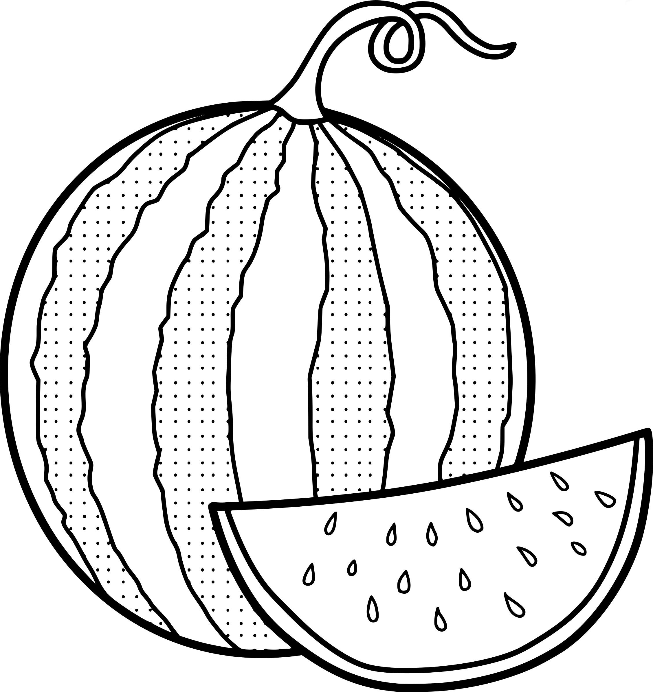 Watermelon Drawing At Getdrawings