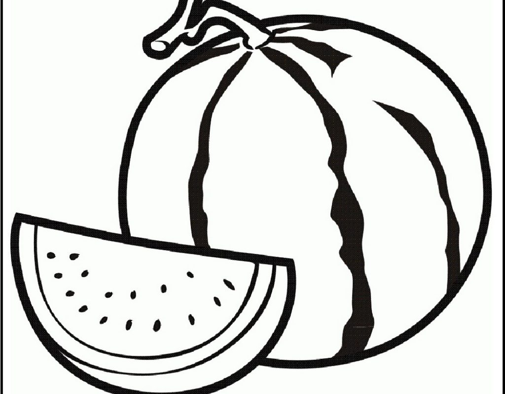 Watermelon Line Drawing At Getdrawings