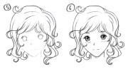 wavy hair drawing