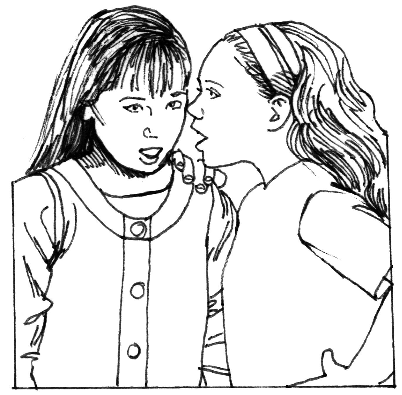 Whispering Drawing At Getdrawings