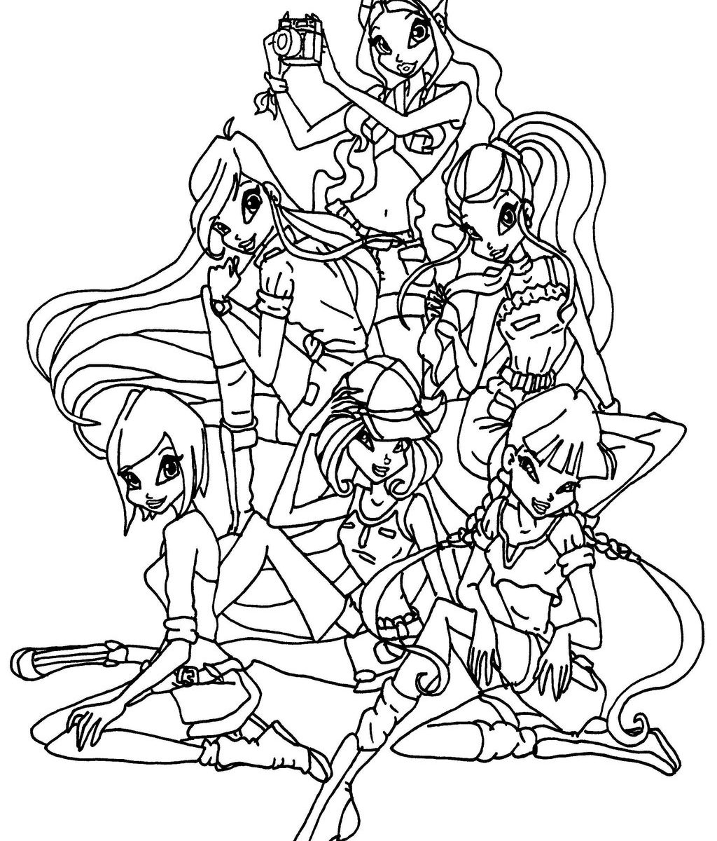 Inx Club Piff Pixie Coloring Page MediaTown 360 Winx Drawing 14