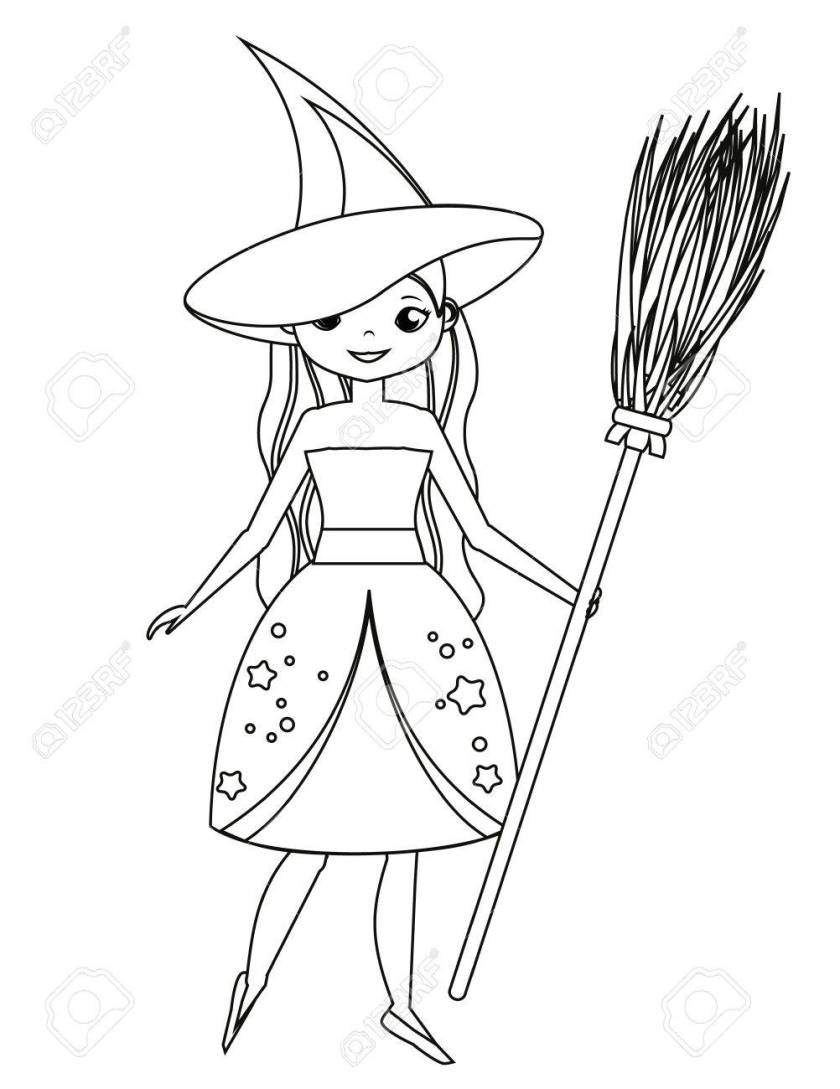 witch broom drawing at getdrawings  free download