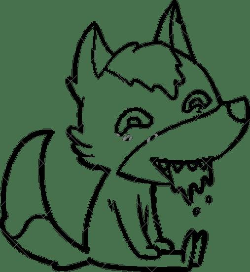 Cartoon Wolf Drawing Cartoon Wolf Drawing At Getdrawings