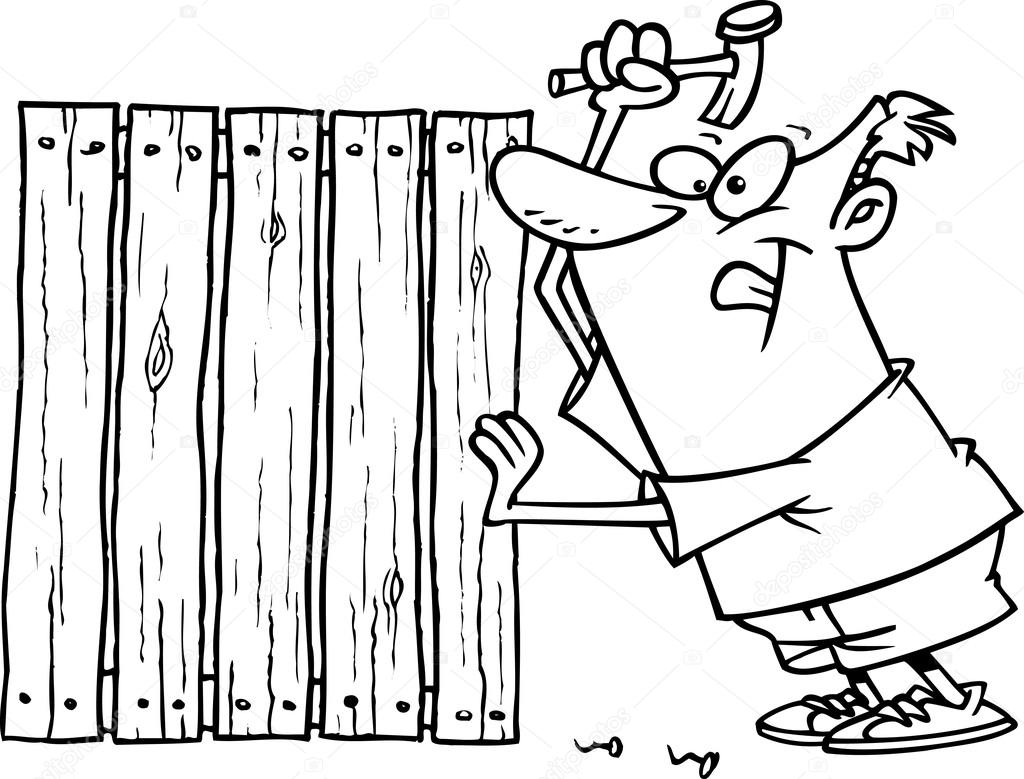 Wooden Fence Drawing At Getdrawings