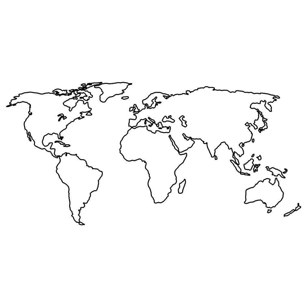 World Drawing Map At Getdrawings