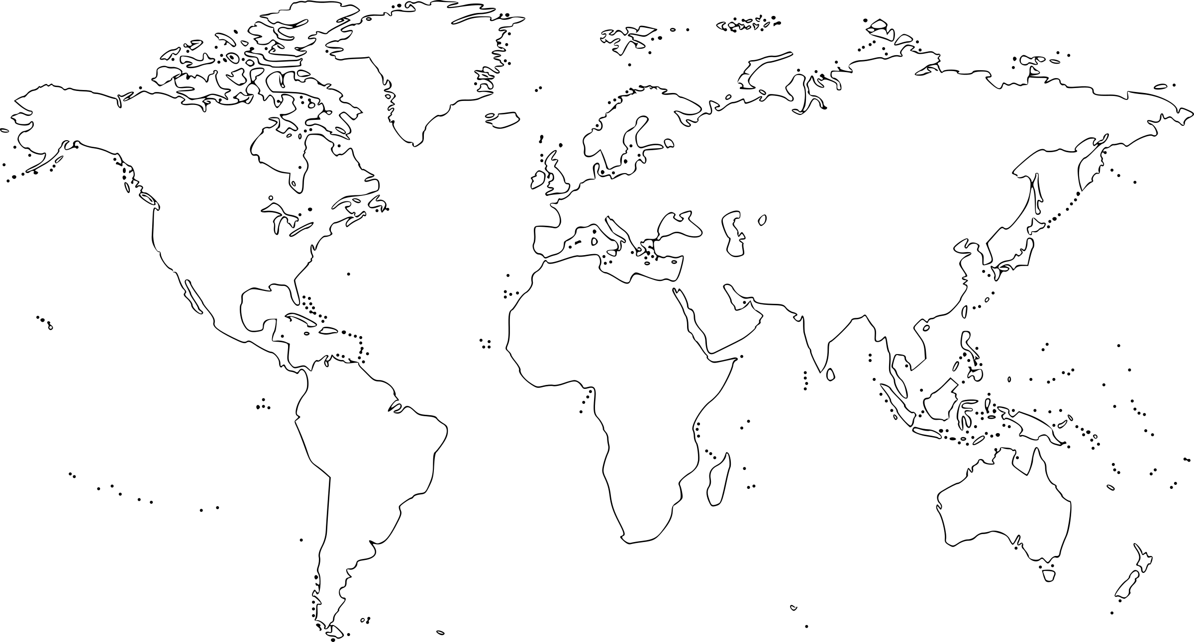 World Map For Drawing At Getdrawings