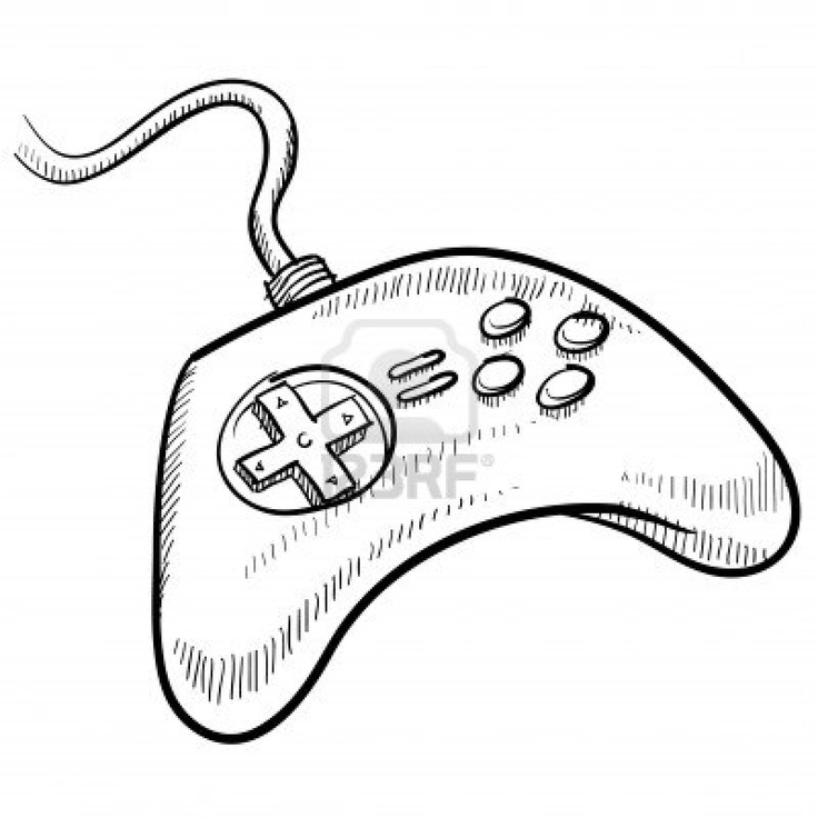 Xbox 360 Controller Drawing at PaintingValley.com