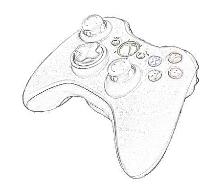 Xbox One Controller Outline Sketch Coloring Page