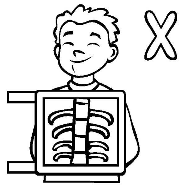 X Ray Clipart Coloring