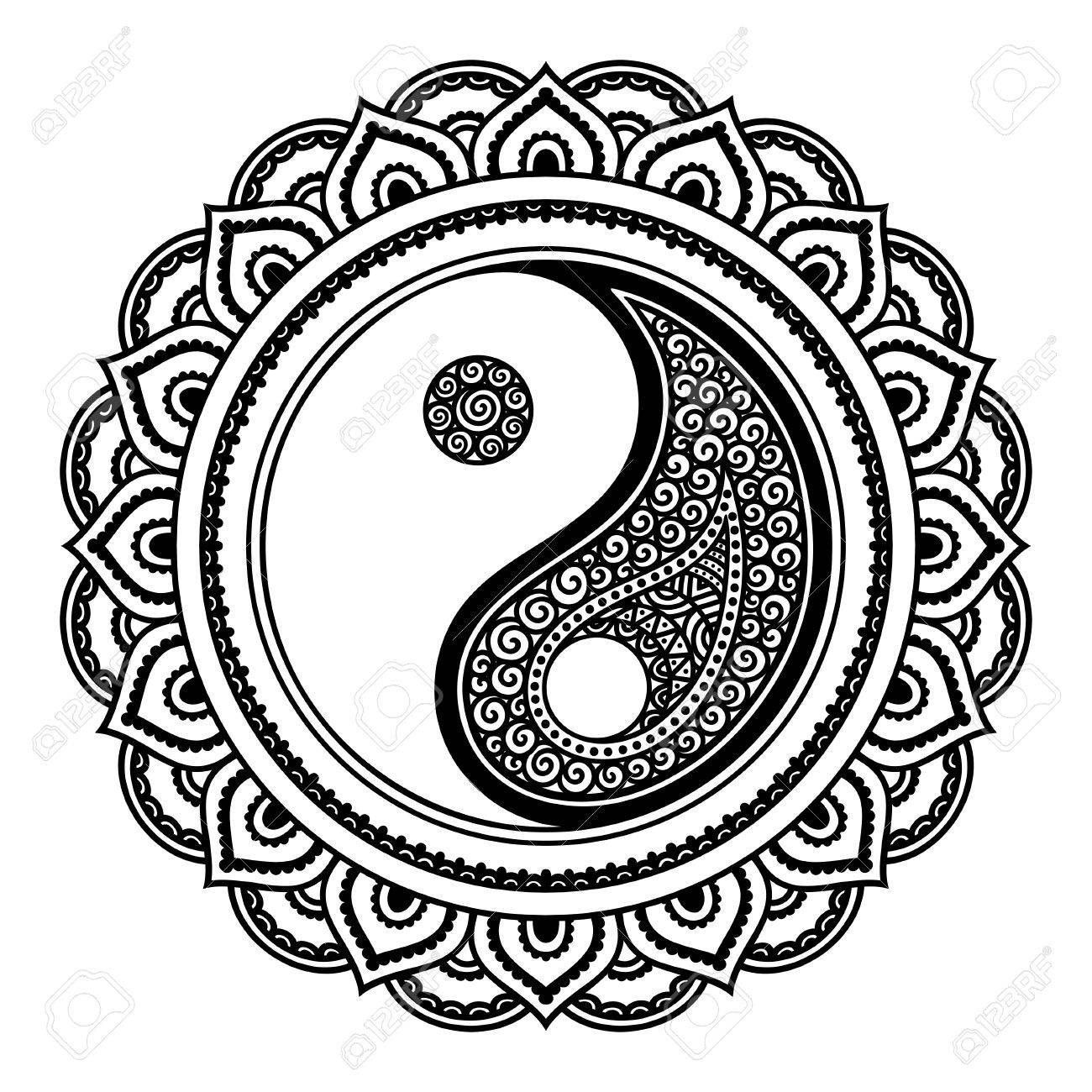 Yin Yang Drawing Design At Getdrawings