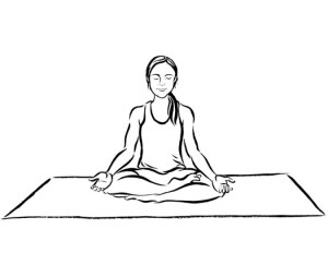 yoga drawing poses meditation meditating pose sketches woman drawings line getdrawings calm guide beginner mon minutes amour dessin character google
