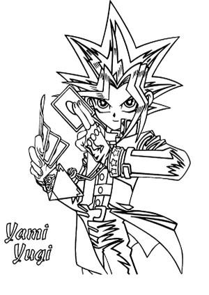 yu gi oh coloring yugi yami pages drawing 5ds printable 5d duel netart elemental hero don monsters getdrawings line again