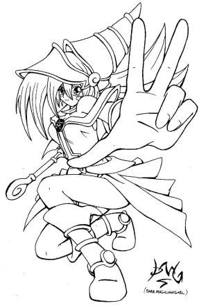 magician yu gi oh dark coloring pages drawing drawings deviantart dragon yugi eyes trakker getdrawings