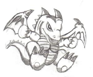 dragon yu gi drawing oh simple drawings dragons cool faces getdrawings deviantart deviant