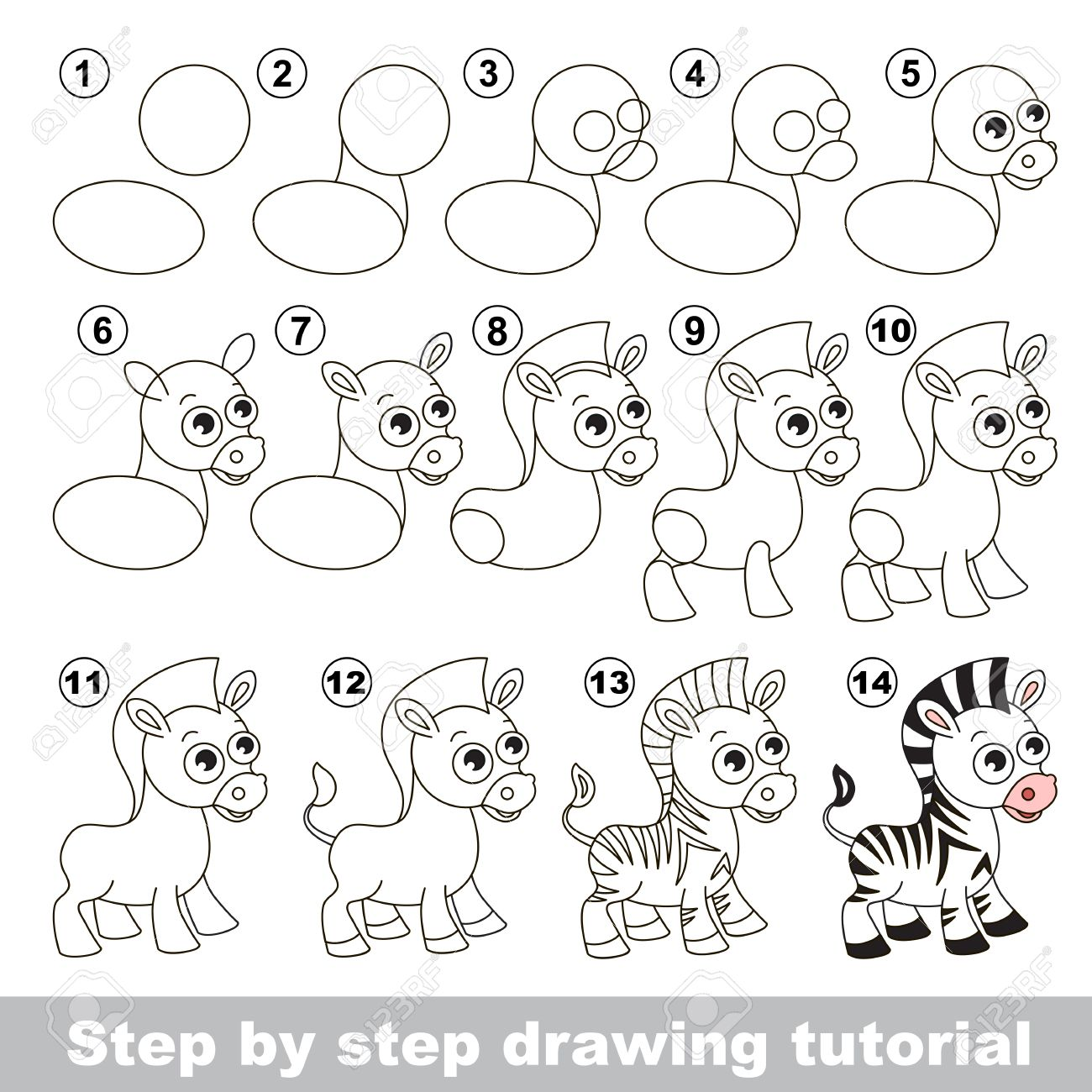 Zebra Drawing Step By Step At Getdrawings