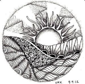 mandala circle drawing designs doodle zentangle doodles sun zendoodle coloring pages tree exercise getdrawings zentangles doodling drawings landscape simple patterns