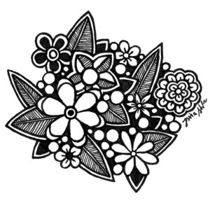 doodle zentangle drawing basic floral getdrawings its heyy clipartmag
