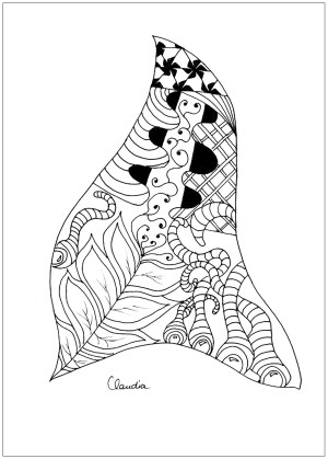 zentangle coloring simple adult claudia pages drawing zentangles adults drawings thanks getdrawings colouring books