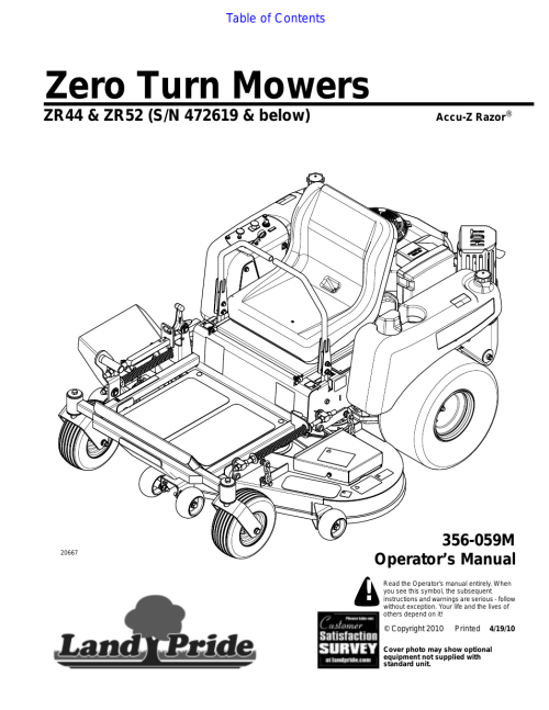 small resolution of 954x1235 land pride zr52 user manual 40 pages also for zr44
