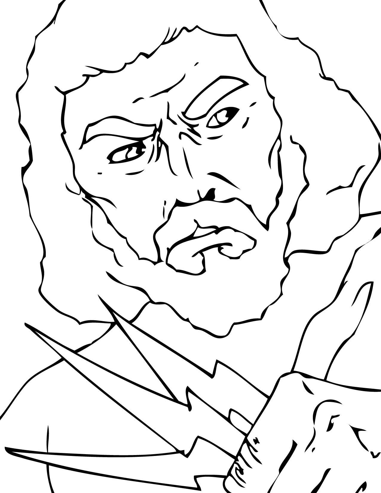 Zeus Greek God Drawing At Getdrawings