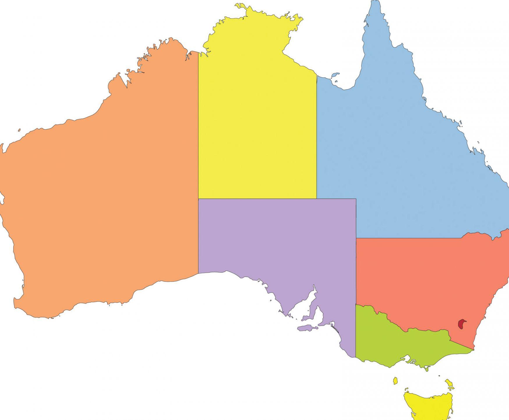 Australia Map Silhouette At Getdrawings