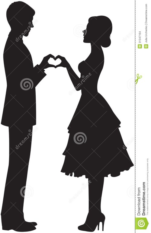 small resolution of 846x1300 bride and groom clipart silhouette collection