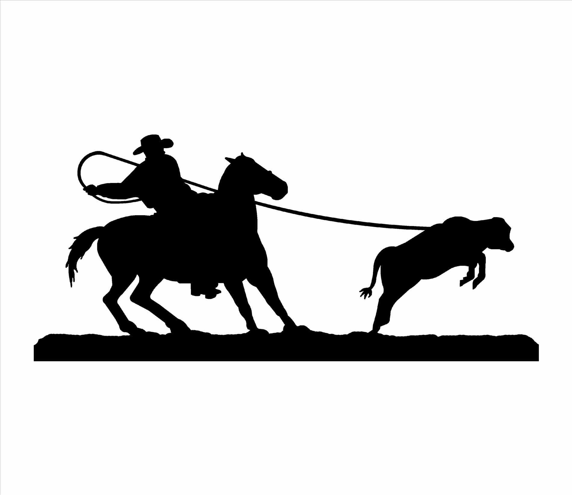 Bronc Rider Silhouette At Getdrawings