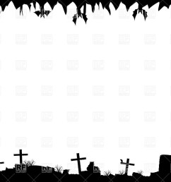 1200x849 halloween border with graves royalty free vector clip art image [ 1200 x 849 Pixel ]