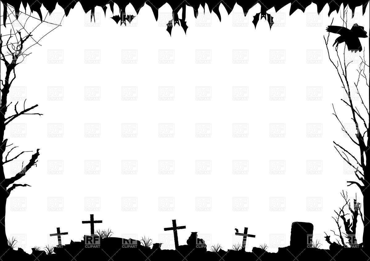 hight resolution of 1200x849 halloween border with graves royalty free vector clip art image