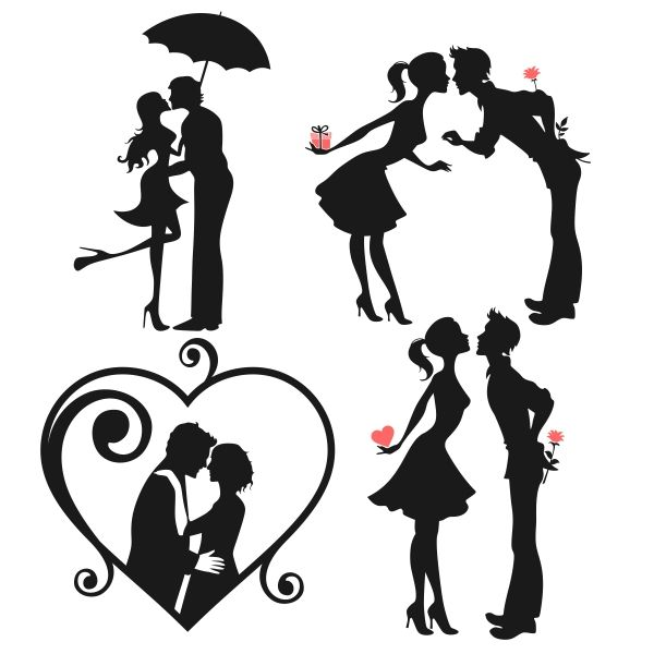 Download Couple Silhouette Stencil at GetDrawings   Free download