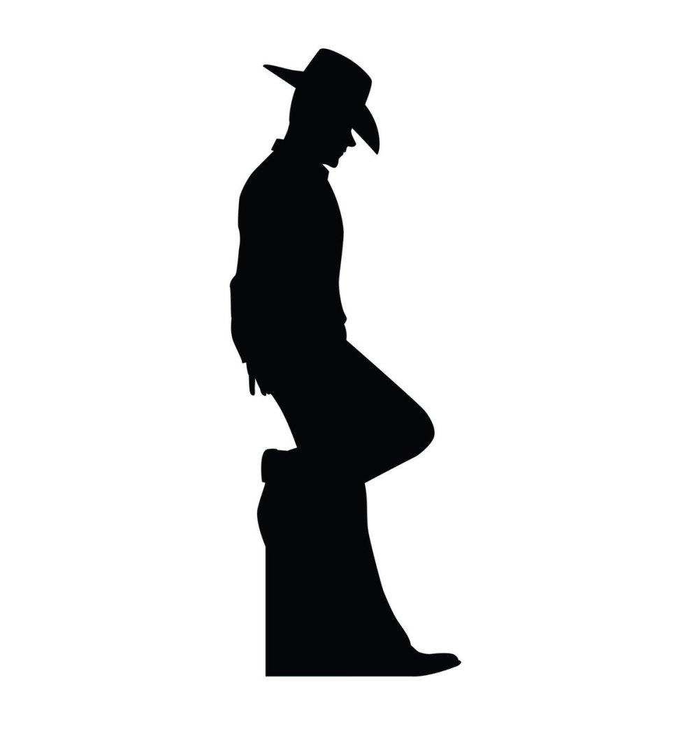 medium resolution of 1199x1280 su 2317 cowboy silhouette cardboard cutout standup