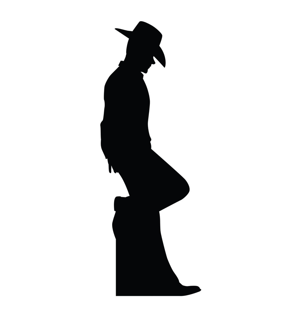 hight resolution of 1199x1280 su 2317 cowboy silhouette cardboard cutout standup